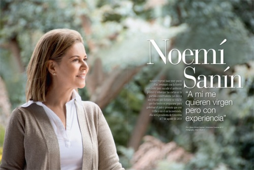 Noemí Sanín / Fotografia Pilar Mejia © Revista GENTE