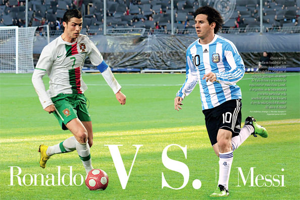 Cristiano Ronaldo vs Messi, duelo 2010 en YouTube