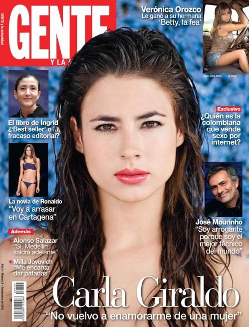 Carla Giraldo / Portada GENTE Colombia, septiembre de 2010 / Fotografía: Ricardo Pinzón