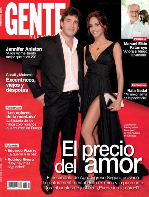 Portada Revista Gente Colombia /Edición Marzo de 201 / Foto: Alexandra  Ruíz.
