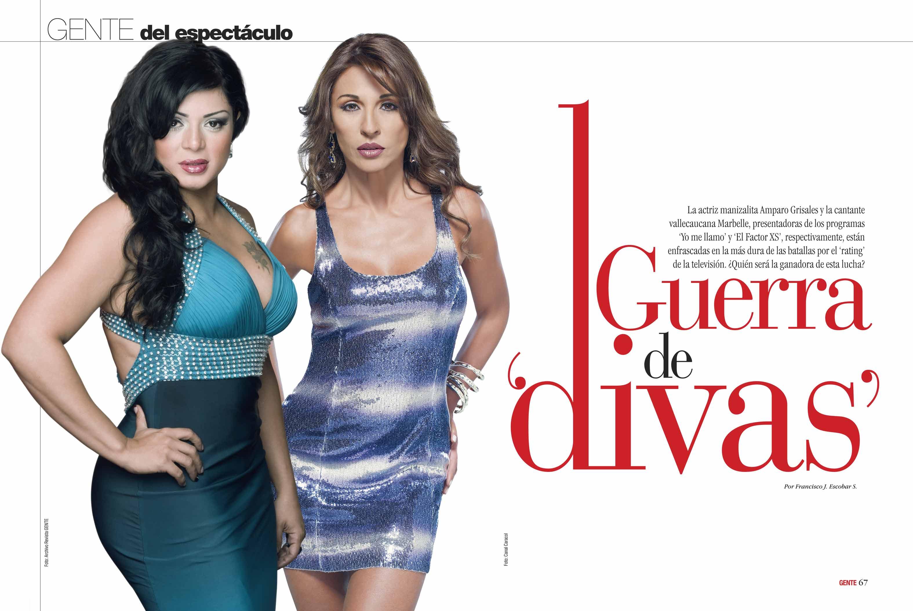 Amparo Grisales y Marbelle / Fotos: Archivo Revista GENTE y Canal ...