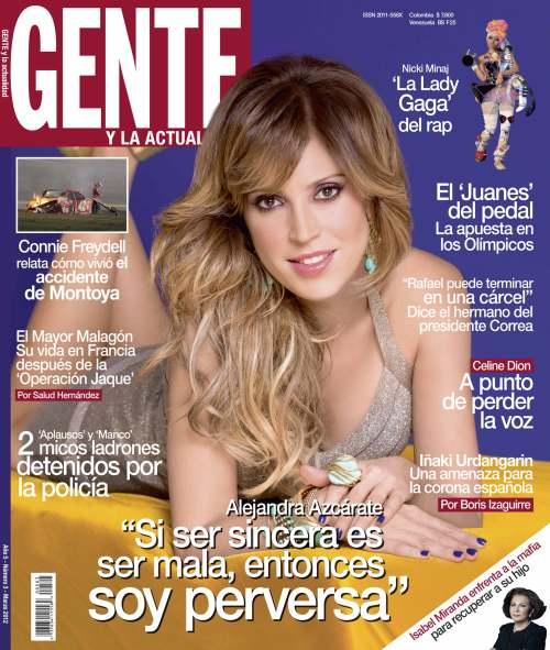Alejandra Azcárate. / Foto: Fabían Medina © Revista GENTE Colombia.